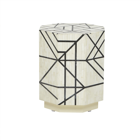Shop categories: Furniture > Bedsides & Side Tables (product) Taj Bone Abstract Side Table. Shop Designer furniture, homewares and accessories for your home with Rock The House.